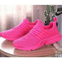 NIKE AIR PRESTO men and women tide brand fashion casual sports shoes F Rose red
