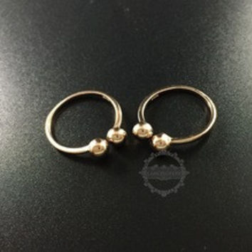 18*20mm rose gold plated 925 solid sterling silver fashion double ball adjustable ring DIY supplies jewelry findings 1216001