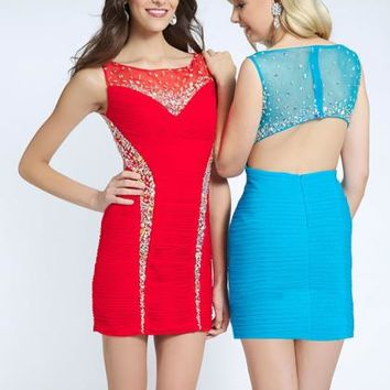 2014 JVN by Jovani Short Fitted Homecoming Dress JVN90366