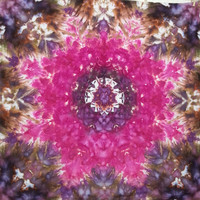 mandala tie dye tapestry or wall hanging in pink and brown