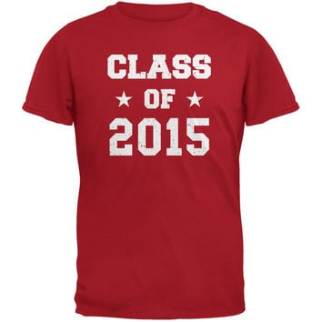 Graduation - Class of 2015 Stars Red Adult T-Shirt