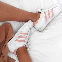"""Adidas"" Superstar Women Men Shell-toe Flats Sneakers Sport Shoes"