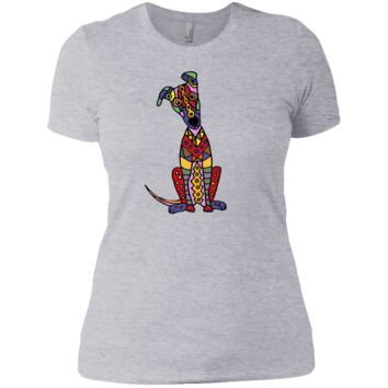 funny psychedelic greyhound dog abstract art T-Shirt