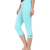 Nike Pro Core Compression Capri Aqua Blue NWT 589366-466 Leggings Pants