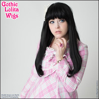 Gothic Lolita Wigs®  Straight Classic™ Collection - Black Mix -00030