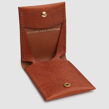 Southern Field Industries / Coin Wallet in Embossed Tan