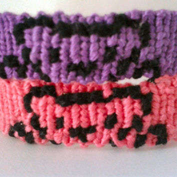 Peeking Teddy Bear Friendship Bracelet - Alpha Hand-woven Embroidery Floss Bracelet