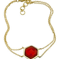 Andara Hexagon Gemstone Bracelet - Max & Chloe