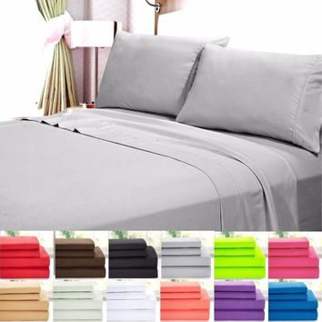 Home Collection Super Soft Double Brushed Microfiber 1800 Series Bed Set