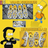 """Vans"" Casual Shoes yellow sunflower low tops"