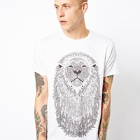 Supremebeing T-Shirt Lion Beard Print at asos.com