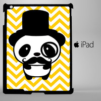 Cute Panda Mustache iPad 2, iPad 3, iPad 4, iPad Mini and iPad Air Cases - iPad
