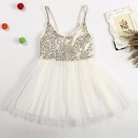 Summer Baby Girls Dress Princess Toddlers Sequined Dress Infant Christmas Tutu Dress Kids Clothing Baby Birthday Party