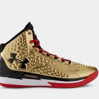 Men's Under Armour Stephen Curry One Mid Gold All American Basketball Shoes