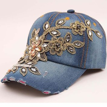 metting joura Handmade washed do old cowboy baseball cap Female fashion leisure snapback hat accessories
