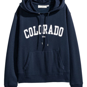 Printed Hooded Sweatshirt - from H&M