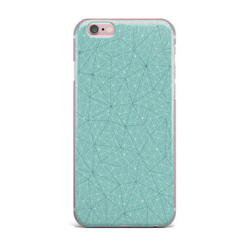 "Michelle Drew ""Wanderlust Blue River Song"" Blue Geometric iPhone Case"