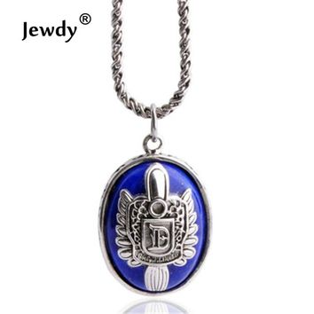 Jewdy movie film jewelry the Vampire Diaries Elena Gilbert Damon Stefan Vampire necklace collare Vervain alloy chains blue charm