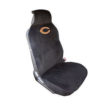 Licensed Official New NFL Chicago Bears Car Truck Front Sideless Seat Cover Airbag Ready