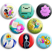 Adventure Time Pinback Buttons Badge #2 (Set of 8) 1.25 inches Finn & Jake,New