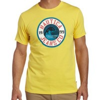 Nautica Men's NJC Wave Short Sleeve Tee, Sunfish Yellow, X-Large