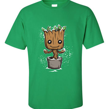 Save the Galaxy baby tree character Movie inspired Cartoon princess Rich T-Shirt Shirt tee Shirt Mens Ladies Womens MLG-1296