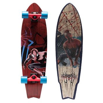 Marvel The Amazing Spiderman 31-in. Longboard - Boys (Sand)
