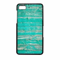 Teal Wood BlackBerry Z10 Case