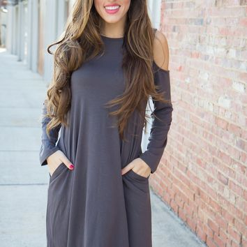 Stay Cool Dress - Gray - Final Sale