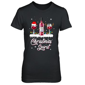 Christmas Spirits Santa Hat Wine Funny Christmas Gifts