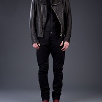 GUIDI - Horse Leather Moto Jacket - CHM BLKT - H. Lorenzo