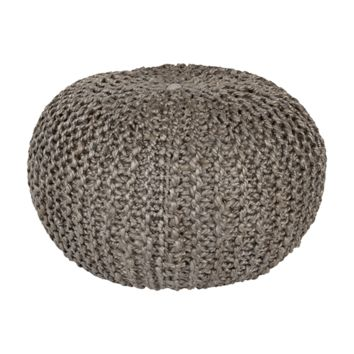 Bermuda Pouf ~ Medium Gray