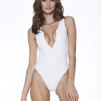 MGS Baywatch One Piece - White