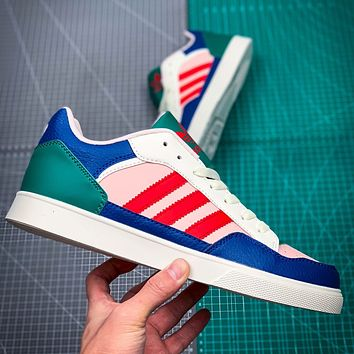 Adidas COURT80S men and women tennis sneakers Blue Red Green