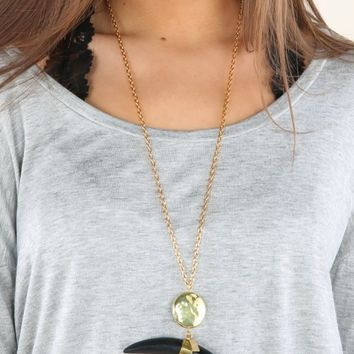 Steer Clear Necklace-Black