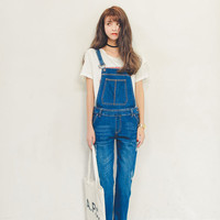 Denim Overall with Pocket