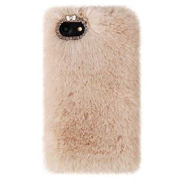 Beige Faux Fur iPhone Case