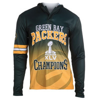 Green Bay Packers Super Bowl XLV  Official NFL Champions Poly Hoody Tee