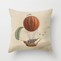 Adventure Awaits  Throw Pillow by Terry Fan