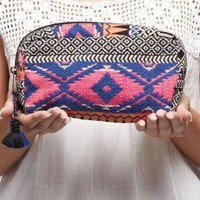 Tribal Pretty Embellished Makeup Bag