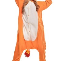 Charmander Adult Unisex Animal Kigurumi Cosplay Costume Pajamas Onesuits (M)