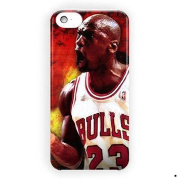 CREYUG7 Michael Jordan Chicago Bulls Nba For iPhone 5 / 5S / 5C Case