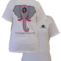 Southern Couture Elephant Tee- On Comfort Color