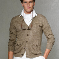 V-Neck Flap Pocket Cardigan