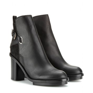 acne studios - cypress leather ankle boots