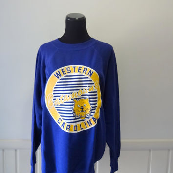 Vintage Western Carolina University Sweater 1980s