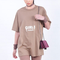 Girls Tour Tee - Dark Tan