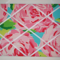 New memo board made with Lilly Pulitzer Hotty Pink by jlmyakima