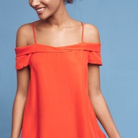 Cerise Open-Shoulder Blouse