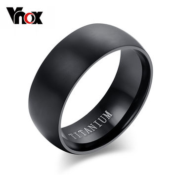 100% Titanium Rings For Men 8mm Cool Black Men' Ring Jewelry Wedding Engagement Male Gift Aliexpress sales